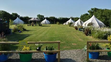 Lotus Belle tent Glamping in Cornwall