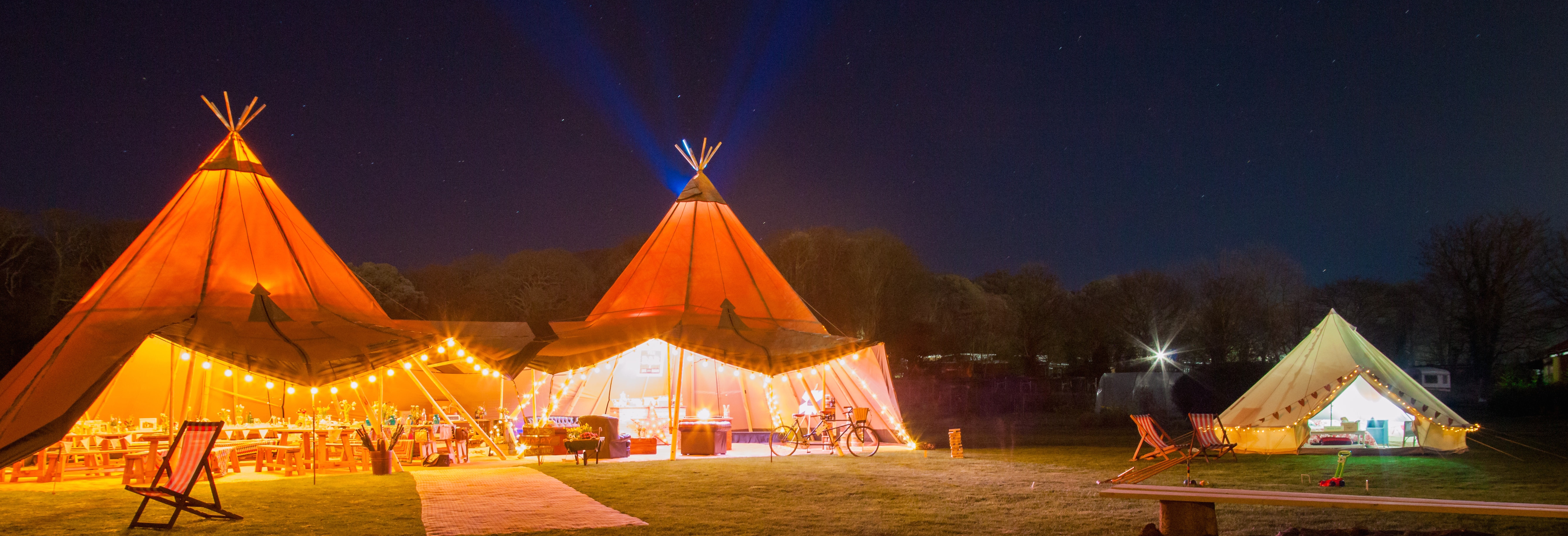 Tipi & Bell tent glamping at Magical Camping
