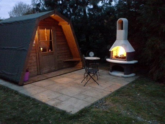 Greenway Touring and Glamping Park Pod with Chiminea