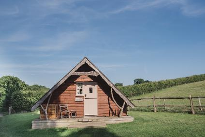 Swallowtail Hill glamping wood cabin