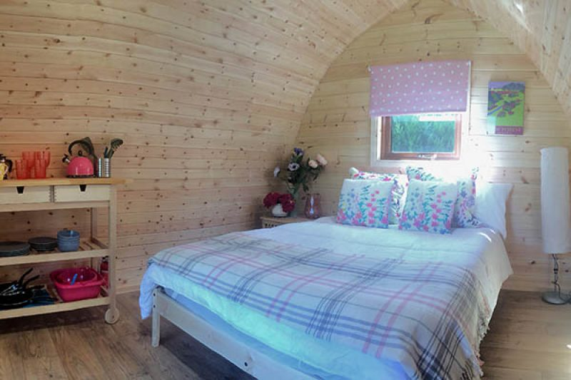 Back of Beyond touring park glamping interior