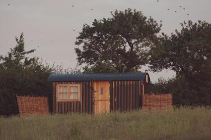 Elmley Nature Reserve Shepherds Hut Glamping