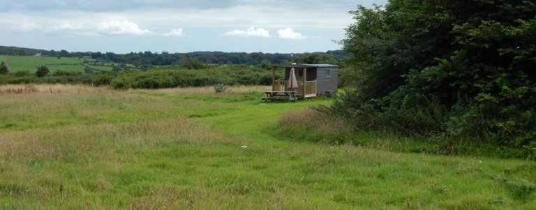Frizparc Shepherd's Hut Glamping in North Cornwall