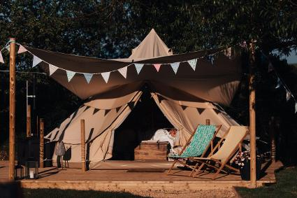 The Glamping Orchard - Bell tent