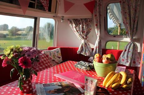 Happy Days Retro Vacations - Airstream glamping interior