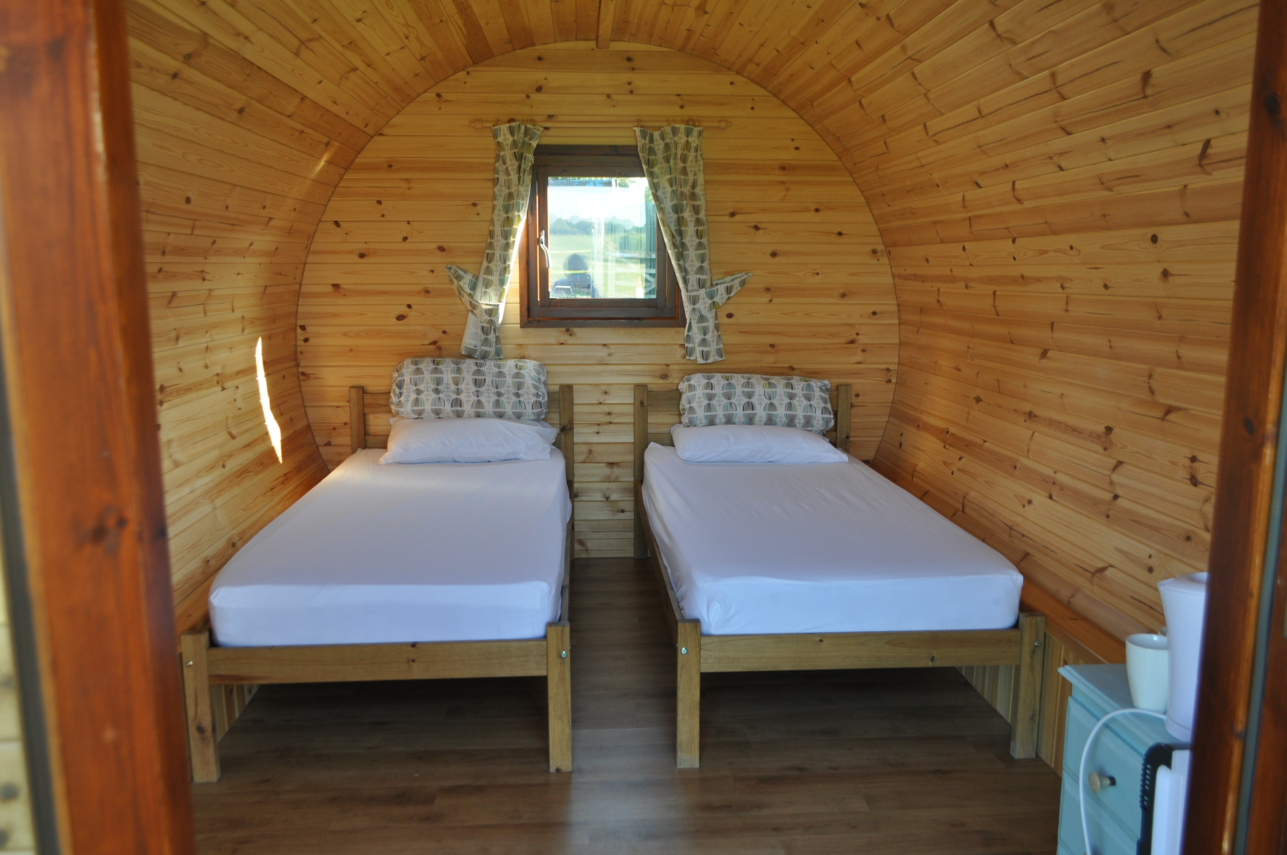 Iron Gorge Camping glamping pod interior
