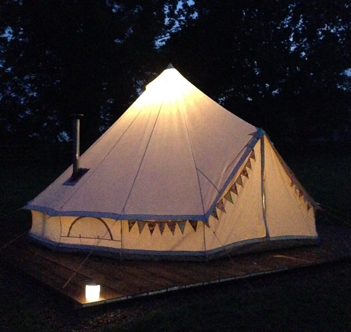 Keepers Meadow Bell tent night glamping